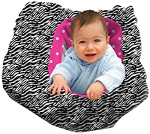 Daisy Kingdom City Tot Shopping Cart Cover Kit, Zebra and Polka Dot, Black