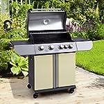 True Grill 4 Burner Gas Patio BBQ + S...