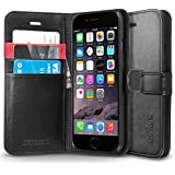 iPhone 6 Case, Spigen® [Stand Feature] iPhone 6 (4.7) Case Wallet [Wallet S] [Black] Premium Wallet Case with STAND Flip Cover for iPhone 6 (4.7) (2014) - Black (SGP10972)