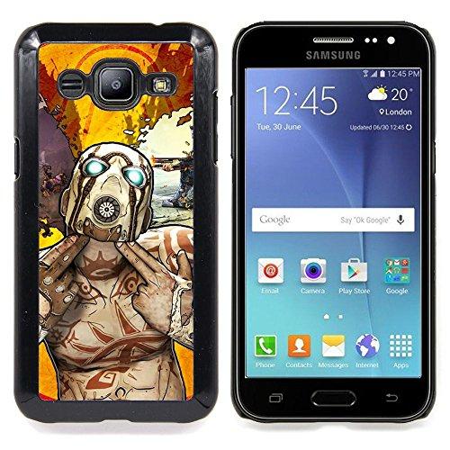 Psycho Tf Character - Team F0Rtress Custodia protettiva Progettato rigido in plastica King Case For Samsung Galaxy J2