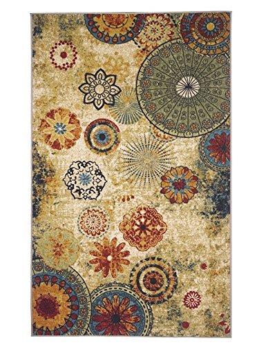 New Medallion Multi Colored Area Rug 5x8 Carpet Soft Rug