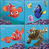 Blue Mountain Wallcoverings 31720450 Finding Nemo 4-Piece Self-Stick Wall Art