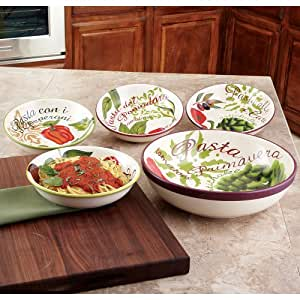 Certified Interntional Primavera 5-Piece Pasta Sets