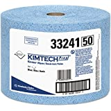 "Kimberly-Clark Kimtech Prep 33241 Polypropylene Prep Disposable Jumbo Roll Wiper, 13-25/64"" Length x 9-19/32"" Width, Blue (Case of 717)"