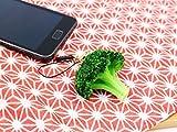 食品サンプル ストラップ&イヤホンジャックピアス みずみずしい ブロッコリー ジワジワ人気上昇中!