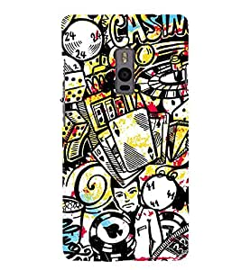 Vizagbeats Casino Games Gamblings Back Case Cover for ONEPLUS 2
