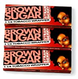 3 booklets x BROWN SUGAR Strawberry 1 1/4 Rolling paper