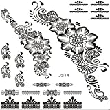 COOSA Tattoo Aufkleber Temporäre Körperkunst Entfernbare Muster Sticker für Ihre Körper Weiß Schwarz Design 4 (Mode16)