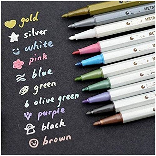 metallic-stifte-satz-von-10-farben-metallic-marker-pens-fur-kartenherstellung-diy-fotoalbum-gebrauch