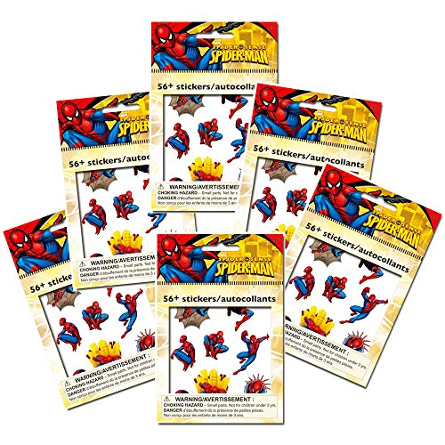 Marvel Spiderman Stickers Party Favor Pack (336 Stickers)