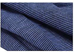 Variance Men's Shirt Fabric (S4006_Free Size_Blue)