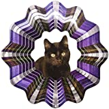 Iron Stop D451-6 Solid Black Cat Wind Spinner, 6.5-Inch