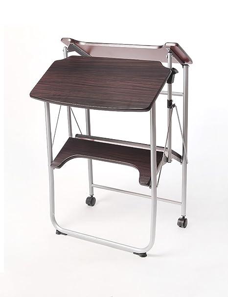 ZGW Mesa plegable Escritorio moderno simple del escritorio del doblador del escritorio ( Color : A , Tamaño : L*W*H: 57*50*78cm )