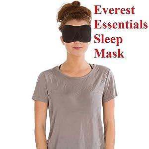 Everest Essentials Luxury 3D Contoured Eye Mask width=