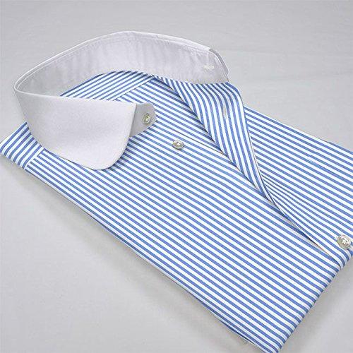 ワイシャツ 軽井沢シャツ [A10KZC213] ラウンドカラー 大丸 クレリック ライトブルーロンスト らくらくオーダー受注生産商品