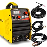 SUSEMSE TIG Welder Tig/Arc/Stick Tig Welding Machine High Frequency Dual Voltage 110/220V DC 200Amp Inverter IGBT MMA Digital Display TIG200A