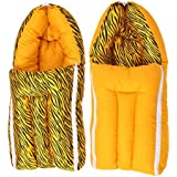 Get IT Dual Pattern Baby Sleeping Carrying Bag (Yellow)