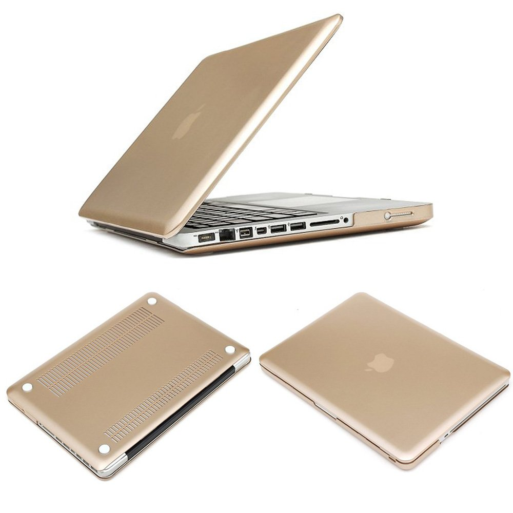 Pioneer Tech® Metallic Champagne Gold Macbook Rubber Hard Skin Case Cover