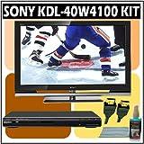 Sony Bravia W-Series KDL-40W4100 40-inch 1080P LCD HDTV + Sony DVD Player w/ Accessory Kit