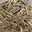 100 Coloured Craft Wooden Mini Pegs - Natural
