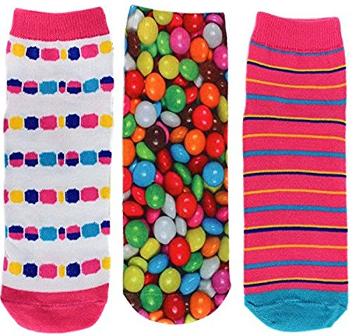 Ecko Red Women's Fun Print Low Cut Socks 15 Great Styles In 5 Assorted 3 Packs (Colorful Candy) (Numbered Candy compare prices)