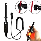 vinmax Auto Car Truck Wire Piercing Cord Voltage Circuit Tester DC 6V/12V/24V Hook Probe Test Light Pencil with Light Indicator (Color: Black)