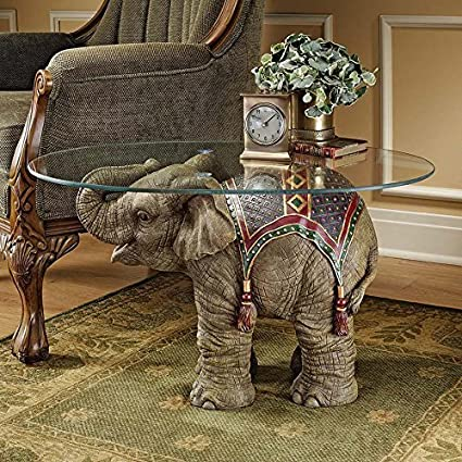 Design Toscano Jaipur Elephant Festival Coffee Table