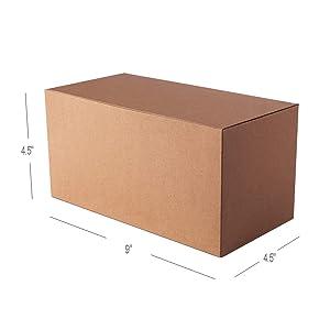 Giftol Large Kraft Gift Box 10 Pack 9 x 4.5 x 4.5 inches Fold Box Paper Gift Box Bridesmaids Proposal Box for Bridal Birthday Party Christmas (Tamaño: 9×4.5×4.5(10Pack))
