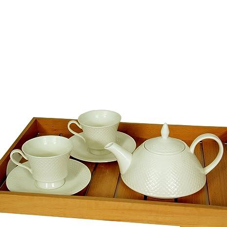 Devnow Porcelain Sloane Tea Set With Teapot at amazon