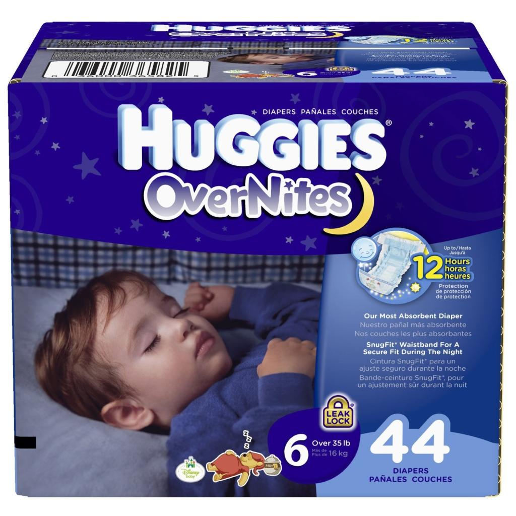 Try our most absorbent diaper, Huggies Overnites Diapers – 25% more