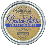 Beard Salve by All American Gentlemen (2 oz) - Beard Balm and Mustache Wax Supports Growth, Softens Hair, Reduces Itch - Bold, Fresh Scent - Non-Greasy Leave-In Formula - 100% Natural and Organic