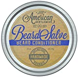 All American Gentlemen Beard Salve - 100% Natural & Organic Beard Conditioner - Leave in Beard Balm for Men - Bold Scent 2 Oz