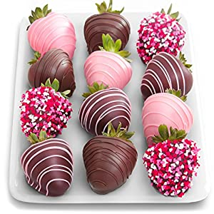Golden State Fruit 12 Love Berries Mothers Day Chocolate Covered Strawberries