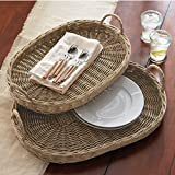 Mud Pie Oblong Willow Basket (Set of 2)