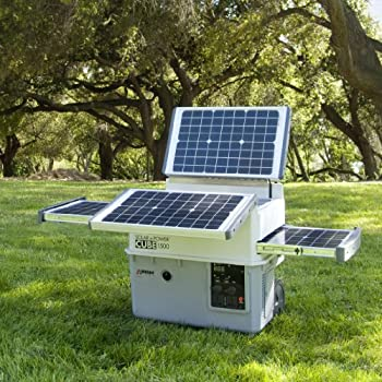 This portable solar power cube generator almost looks like a BBQ