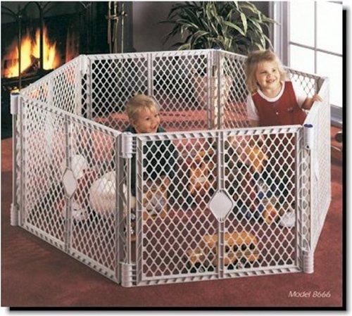Superyard 6 Fence Panels Kids Pen North States Play Yard