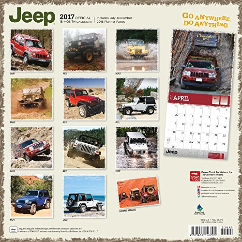Square Photo New 2017 Jeep Wall Photograph Calendar