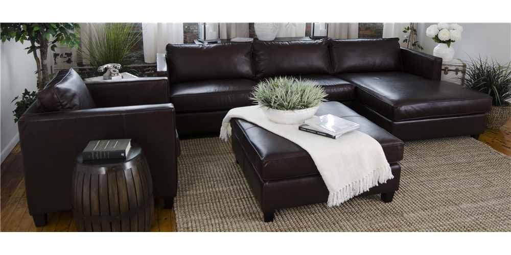 4-Pc Leather Sectional Set