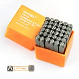 OWDEN Professional 36Pcs.Steel Metal Alphabet and Figure Punch Set (5/32