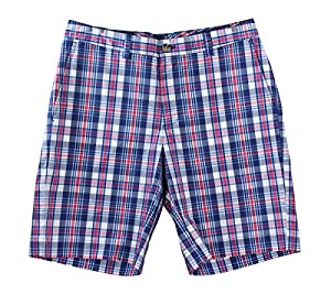 Vineyard Vines Mens Breaker Short Plaid Ocean Splash Cotton Apparel