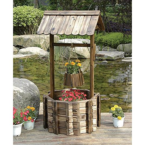 burnished-fir-wood-wishing-well-planter