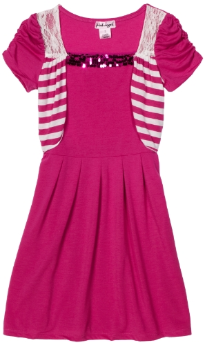 Girls Mock Shrug Dress