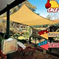 EVERGROW® SAND SUN SHADE SAIL 95% UV BLOCKING Blockage CANOPY COVER 15x10 FT Rectangle from EverGrow