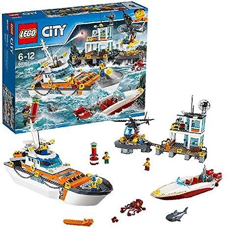 LEGO - 60167 - City - Jeu de Construction - Le QG des garde-côtes