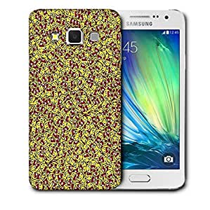 Snoogg Happy Faces Printed Protective Phone Back Case Cover For Samsung Galaxy A3
