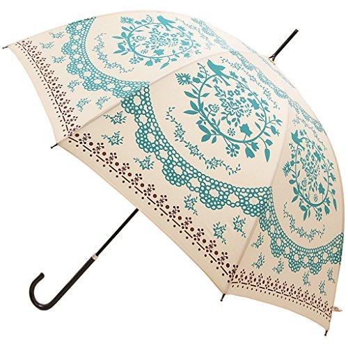 Kung Fu Smith Vintage Flower Totem Print Bubble Dome Rain Umbrella 0