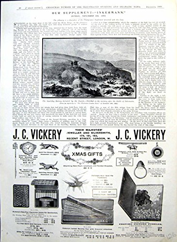 old-original-antique-victorian-print-sand-bag-battery-jc-vickery-gifts-bovril-goldsmith-adverts-1909