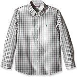 Neck & Neck - Camisa Boton para niño, color kaki / kaki 73, talla 6A
