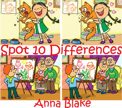 Spot 10 Differences Volume 1(Spot It Book Age 4-8, Activity Book For Children- Great Fun For The Whole Family)