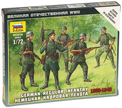 Zvezda Models German Regular Infantry 1939-43 Model Building Kit, Scale 1/72 - 1